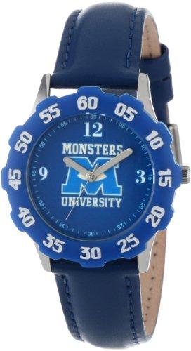 ディズニー 腕時計 キッズ 時計 子供用 モンスターズインク ユニバーシティ Disney Kids' W000898 Tween Monsters Stainless Steel Blue Bezel Blue Leather Strap Watch