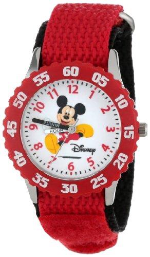 ディズニー 腕時計 キッズ 時計 子供用 ミッキー Disney Kids' W000003 Mickey Mouse Stainless Steel Time Teacher Watch