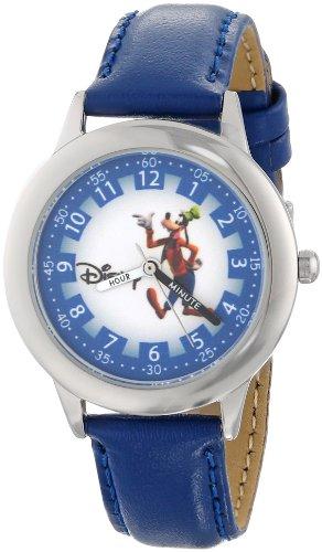 ディズニー 腕時計 キッズ 時計 子供用 グーフィー Disney Kids' W000151 Goofy Stainless Steel Time Teacher Watch