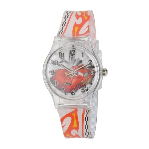 ディズニー 腕時計 キッズ 時計 子供用 カーズ マックィーン Disney kids' W001203 Tween Cars plastic, printed plastic strap watch