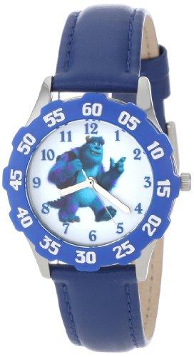 """ディズニー 腕時計 キッズ 時計 子供用 モンスターズインク ユニバーシティー サリー Disney Kids' W000933 Tween James P. """"Sulley"""" Sullivan Stainless Steel Blue Bezel Blue Leather Strap Watch"""