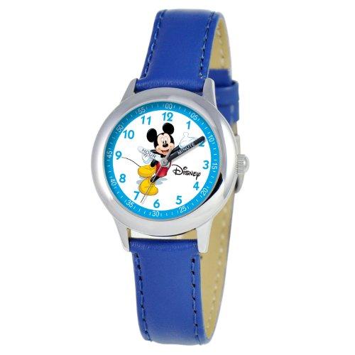 ディズニー 腕時計 キッズ 時計 子供用 ミッキー Disney Kids' W000013 Mickey Mouse Stainless Steel Time Teacher Watch