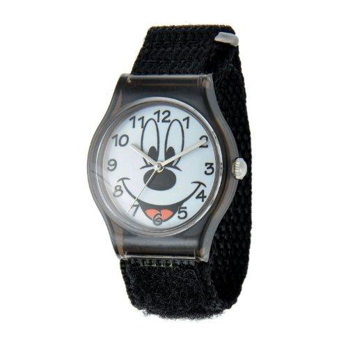 ディズニー 腕時計 キッズ 時計 子供用 ミッキー Disney Kids' W001208 Tween Mickey Mouse plastic, black nylon strap watch