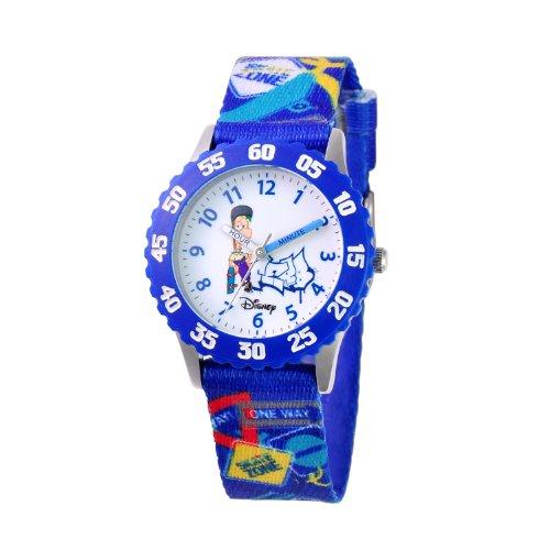 ディズニー 腕時計 キッズ 時計 子供用 フィニアスとファーブ ファーブ Disney Kids' W000374 Ferb Stainless Steel Time Teacher Blue Bezel Printed Strap Watch