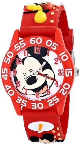 ディズニー 腕時計 キッズ 時計 子供用 ミッキー Disney Kids' W001515 Disney Mickey Mouse 3D Plastic Watch, Red 3D Plastic Strap, W001515 Analog Display Analog Quartz Red Watch