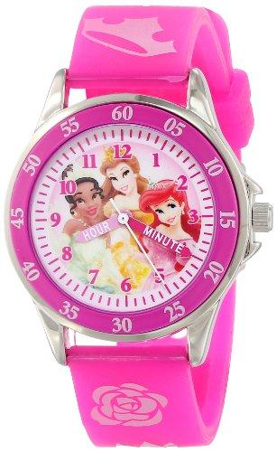 ディズニー プリンセス 腕時計 キッズ 時計 子供用 ディズニープリンセス アリエル ベル ティアナ Disney Kids' PN1051 Disney Princess Pink Band Watch