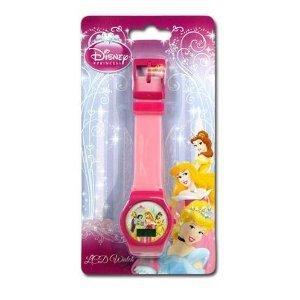 ディズニー プリンセス 腕時計 キッズ 時計 子供用 ディズニープリンセス ベル オーロラ姫 シンデレラ Disney Princess Digital LCD Watch For Girls (assorted colors)