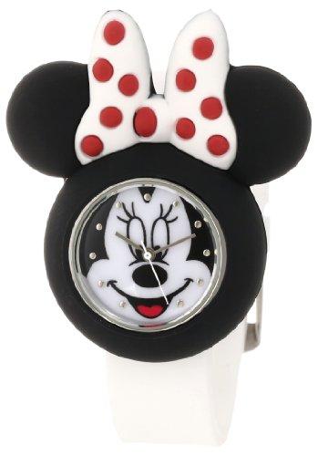 ディズニー 腕時計 キッズ 時計 子供用 ミニー Disney Kids' MN1139 Minnie Mouse White Rubber Strap Watch