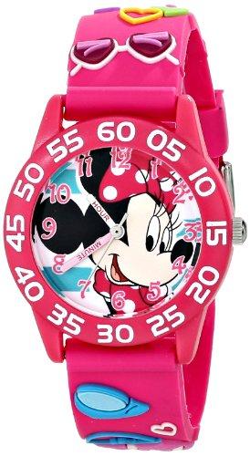 ディズニー 腕時計 キッズ 時計 子供用 ミニー Disney Kids' W001523 Disney Minnie Mouse 3D Plastic Watch, Pink 3D Plastic Strap, W001523 Analog Display Analog Quartz Pink Watch