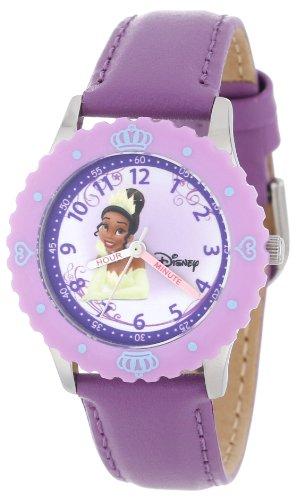 """ディズニー プリンセス 腕時計 キッズ 時計 子供用 プリンセスと魔法のキス ティアナ Disney Kids' W000046 """"Multi-Princess"""" Stainless Steel Time Teacher Watch"""