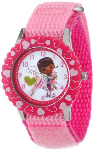 """ディズニー 腕時計 キッズ 時計 子供用 ドックはおもちゃドクター ドック Disney Kids' W000910 """"Doc McStuffins"""" Stainless Steel Time Teacher Watch"""