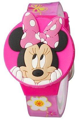 ディズニー 腕時計 キッズ 時計 子供用 ミニー Disney Minnie Mouse Bow-tique Girls LCD Watch with Molded Flip-Top
