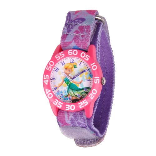"""ディズニー 腕時計 キッズ 時計 子供用 ピーターパン ティンカーベル Disney Kids'  W001184 """"Tinkerbell"""" Time Teacher Watch"""
