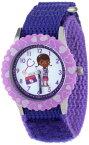 """ディズニー 腕時計 キッズ 時計 子供用 ドックはおもちゃドクター ドック Disney Kids' W000909 """"Doc McStuffins Time Teacher"""" Stainless Steel Watch with Purple Nylon Band"""