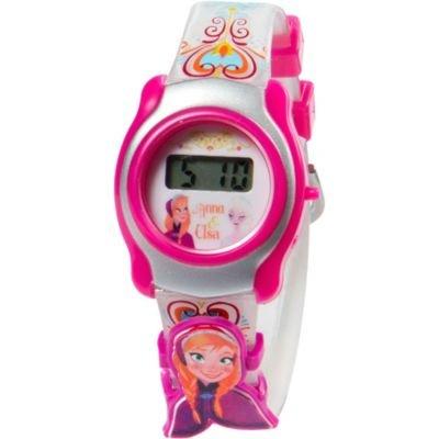 ディズニー 腕時計 キッズ 時計 子供用 アナと雪の女王 アナ Disney Frozen LCD Watch For Girls With Slide-On Character