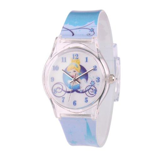 ディズニー 腕時計 キッズ 時計 子供用 シンデレラ Disney Kids' W001273 Tween Cinderella plastic printed blue plastic strap watch