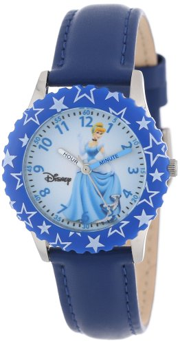 "ディズニー 腕時計 キッズ 時計 子供用 シンデレラ Disney Kids' W000047 ""Cinderella Time Teacher"" Stainless Steel Watch with Printed Bezel"