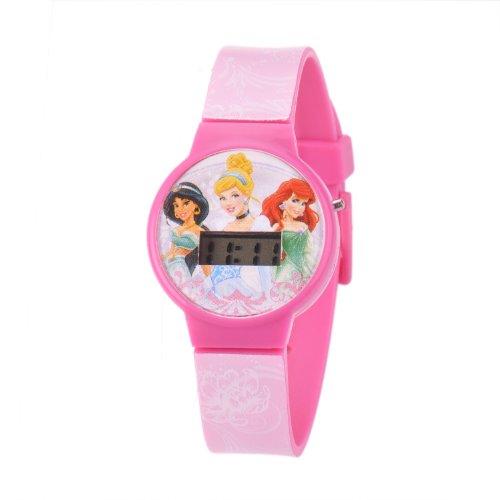 ディズニー プリンセス 腕時計 キッズ 時計 子供用 ディズニープリンセス ジャスミン シンデレラ アリエル Disney Kids' W001264 Princess Digital Plastic Pink Watch