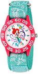 """ディズニー 腕時計 キッズ 時計 子供用 リトルマーメイド アリエル Disney Kids' W001190 """"Time Teacher"""" Watch with Blue Nylon Band"""