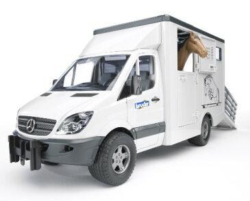 ブルーダー 馬運車 アニマルトランスポーター Bruder MB Sprinter Animal Transporter Including 1 Horse