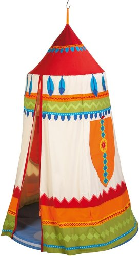 HABA ハバ社 おもちゃ 知育玩具 ハンギングテント ルーム American Indian Hanging tent:i-selection