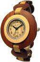 テンス 時計 レディース 腕時計 木製 Tense Sandalwood & Maple Retro Round Analog Ladies Rare Wood Watch L8205SM