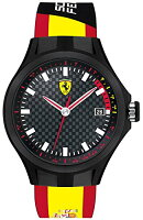Ferrari0830130ScuderiaPitCrewBlackAnaDialYellow/RedBandMenWatchNEW