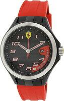 Ferrari0830014LapTimeRedSiliconeStrapBlackDialMen