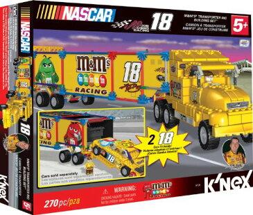 ケネックス ブロック おもちゃ ナスカー エムアンドエムズ トランスポーターリグ ビルディングセット K'NEX NASCAR Building Set: #18 M&M's Transporter Rig