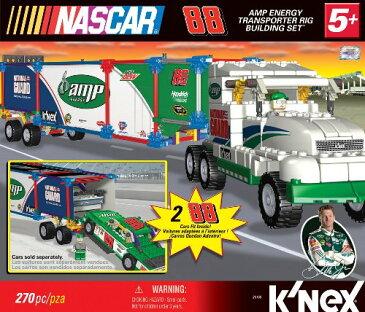 ケネックス ブロック おもちゃ ナスカー トランスポーターリグ ビルディングセット K'NEX NASCAR Building Set: #88 Amp Energy Transporter Rig