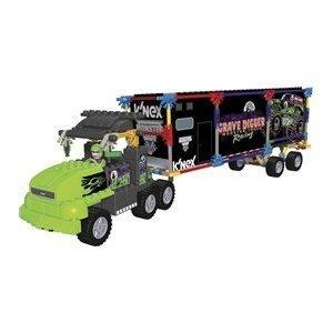 ケネックス ブロック おもちゃ モンスタージャム グレイヴディガー トランスポートリグ ビルディングセット K'Nex Monster Jam Grave Digger Transporter Rig Building Set