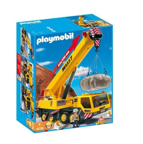 プレイモービル 4036 クレーン車 Playmobil 4036 Transport Set: Heavy Duty Mobile Crane:i-selection