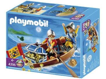 プレイモービル 4295 宝物と運ぶ兵士とボート Playmobil Treasure Transporter with Rowboat