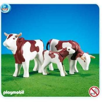 プレイモービル 7079 ジャージー牛の親子 Playmobil 2 Cows and a Calf