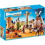 プレイモービル 5247 インディアンのテントとトーテムポール PLAYMOBIL Native American Camp with Totem Pole