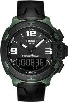 TissotT-RaceTouchBlackDialBlackRubberMensWatchT0814209705701