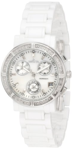 インヴィクタ インビクタ 腕時計 レディース 時計 Invicta Women's 0727 Ceramic Chronograph Diamond Accented Mother of Pearl Ceramic Watch