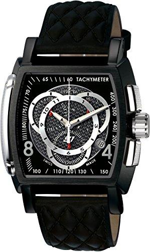 インヴィクタ インビクタ 腕時計 メンズ 時計 Invicta Men's 5401 S1 Chronograph Black Dial Black Leather Watch