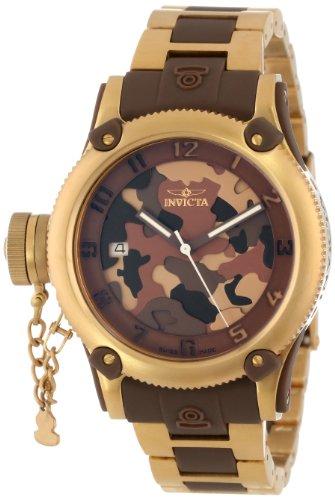 インヴィクタ インビクタ 腕時計 レディース 時計 Invicta Women's 11530 Russian Diver Brown Camouflage Dial 18k Gold Ion-Plated Stainless Steel Watch