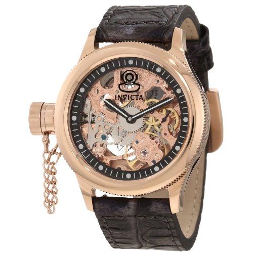 インヴィクタ インビクタ 腕時計 メンズ 時計 Invicta Men's 10365 Russian Diver Lefty Mechanical Gold Tone Skeleton Dial Watch