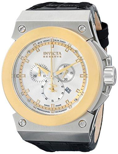 インビクタ 時計 インヴィクタ メンズ 腕時計 Invicta Men's 10953 Akula Reserve Chronograph Silver Textured Dial Watch