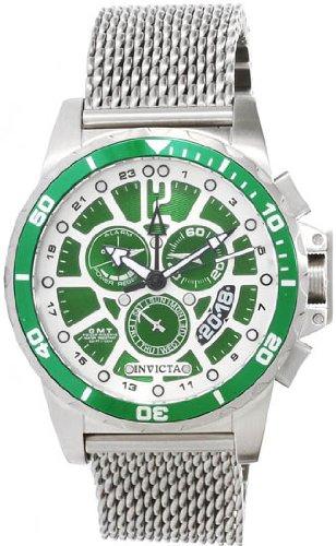 インビクタ 時計 インヴィクタ メンズ 腕時計 Invicta Specialty GMT Multi-Function Green Dial Stainless Steel Mens Watch 80265