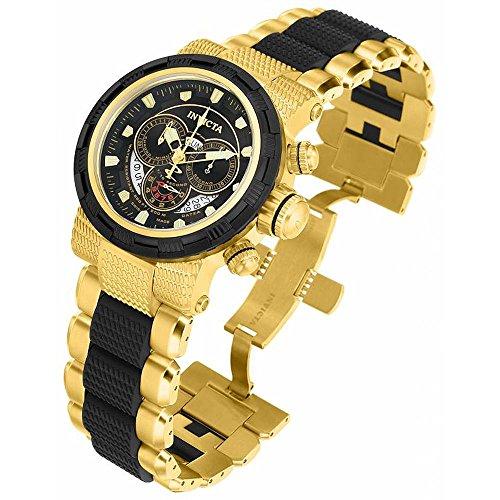 インビクタ 時計 インヴィクタ メンズ 腕時計 Invicta Reserve Chronograph Black Dial Two-tone Mens Watch 80305