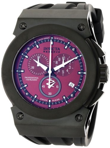 インビクタ 時計 インヴィクタ メンズ 腕時計 Invicta Men's 5281 Akula Reserve Collection Chronograph Black Rubber Watch