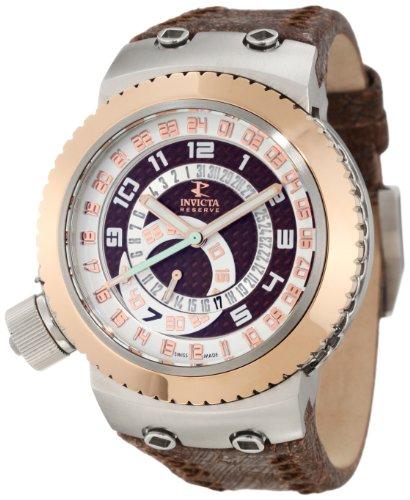 インビクタ 時計 インヴィクタ メンズ 腕時計 Invicta Men's 10006 Russian Diver Reserve Brown Dial Brown Leather Watch