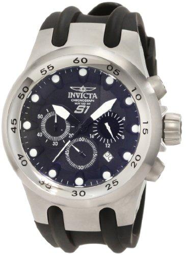 インビクタ 時計 インヴィクタ メンズ 腕時計 Invicta Men's 1506 Specialty S1 Chronograph Black Dial Black Polyurethane Watch