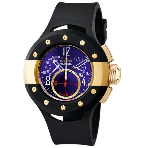 インビクタ 時計 インヴィクタ メンズ 腕時計 Invicta Men's 5690 S1 Collection Chronograph 18k Gold-Plated Black Rubber Watch