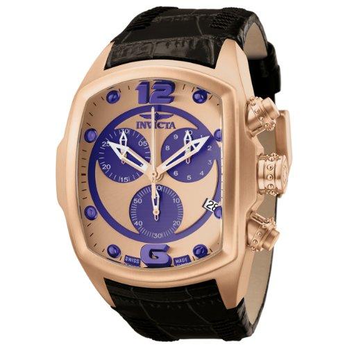 インビクタ 時計 インヴィクタ メンズ 腕時計 Invicta Men's 6734 Lupah Collection Chronograph Black Leather Watch