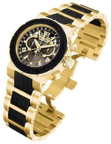 インビクタ 時計 インヴィクタ メンズ 腕時計 Invicta Reserve Mens Ocean Reef Swiss Quartz Master Calendar 18k Gold-plated Watch 6781