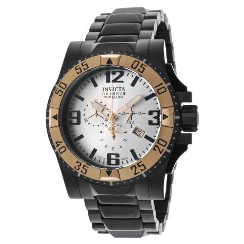 インビクタ 時計 インヴィクタ メンズ 腕時計 Invicta Men's 14038 Excursion Reserve Chronograph Silver Tone Dial Black Ion-Plated Stainless Steel Watch